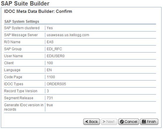 idoc meta builder confirm