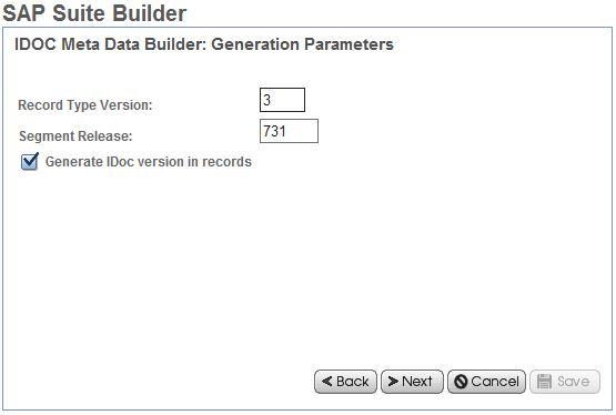 idoc meta builder generation parameters